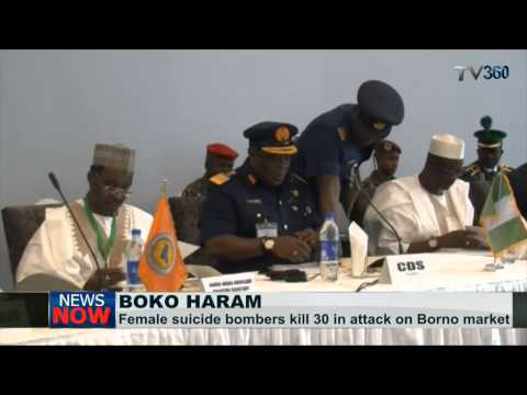 Two female bombers attack Borno market, kill 67
