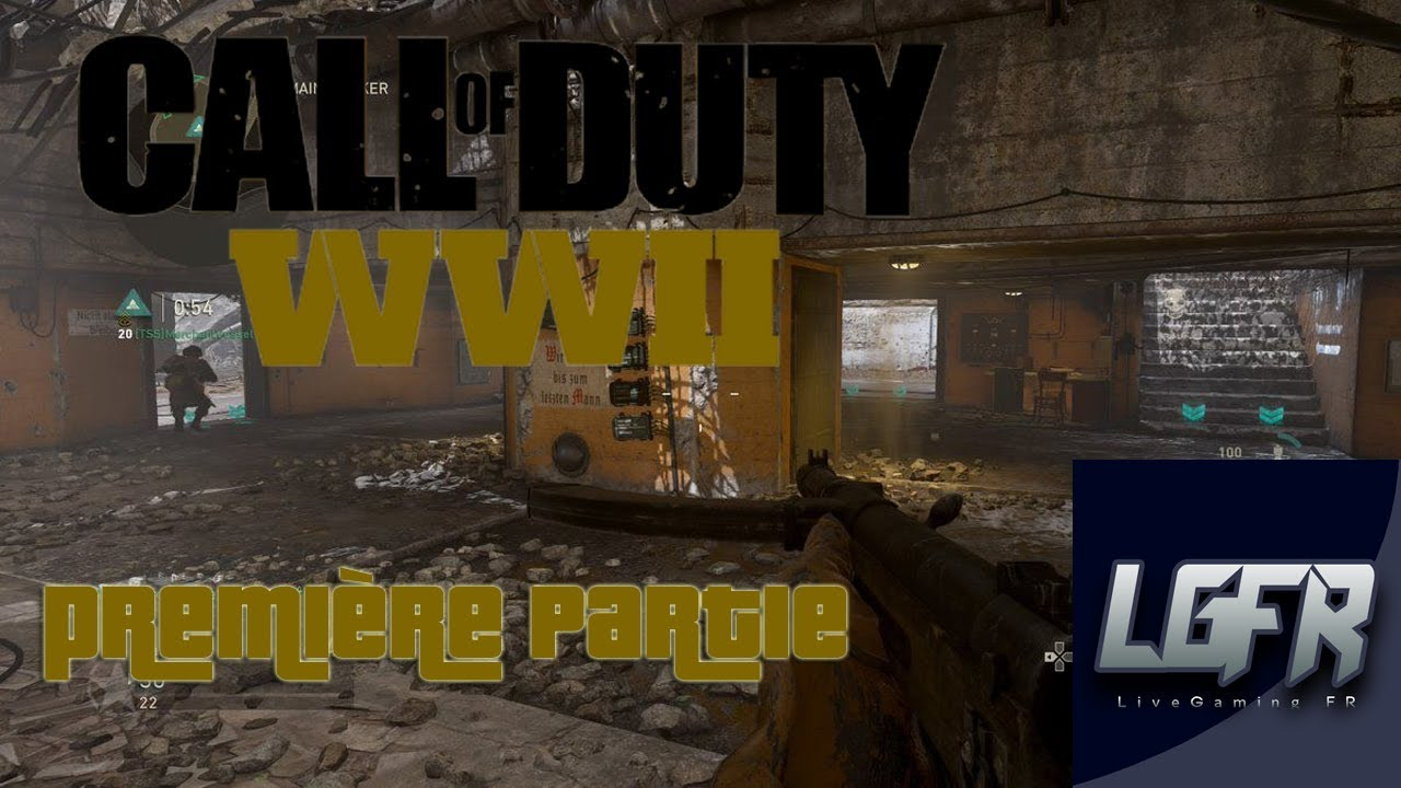 call of duty ww2 d couverte ma pr miere partie ps4 fr youtube
