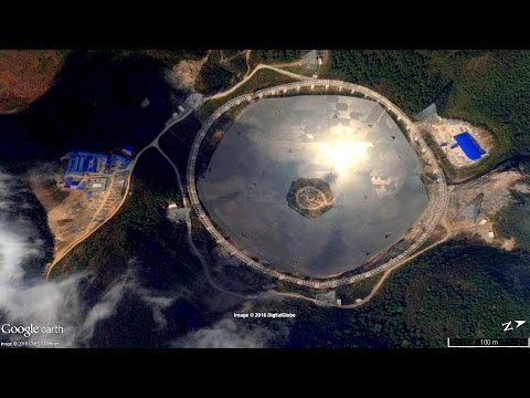 The China Radio Telescope FAST from Google Earth