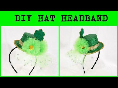 How to make St. Patrick's Day Top Hat Headband DIY Leprechaun Top Hat
