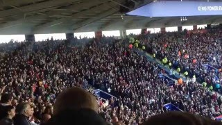 West Ham fans at Leicester City 2-2 | 17/4/16