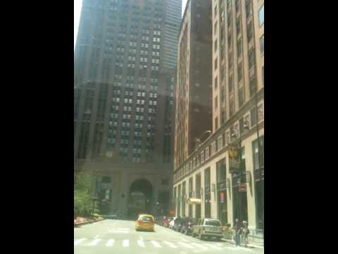Driving UHAUL down Park Avenue Manhattan Grand Central Station Indian Flag 50th Street