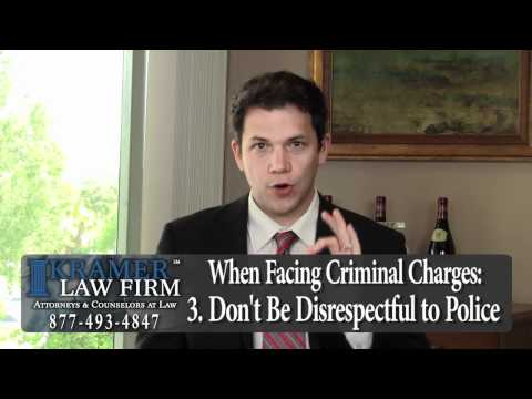 Orlando Criminal Defense Attorney - 5 Things NOT to do When Facing Criminal Charges