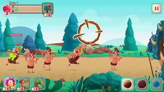Dino dinosaurs Bash игра динозаврики спаси детёнышей динозавров / Lena Play динозавры для детей
