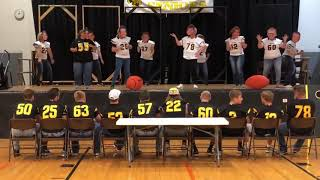 Tri-Center Senior Football Mom's Big Head Skit