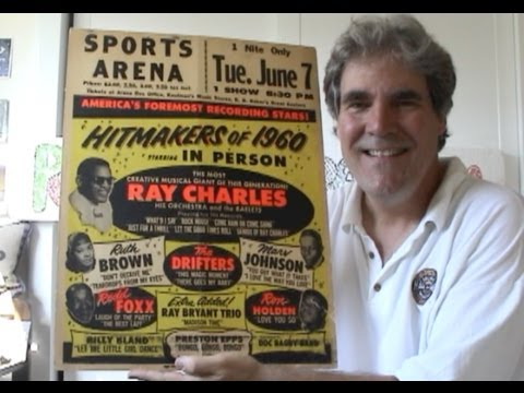 Ray Charles Concert Posters 1960s Vintage R&B Window Cards