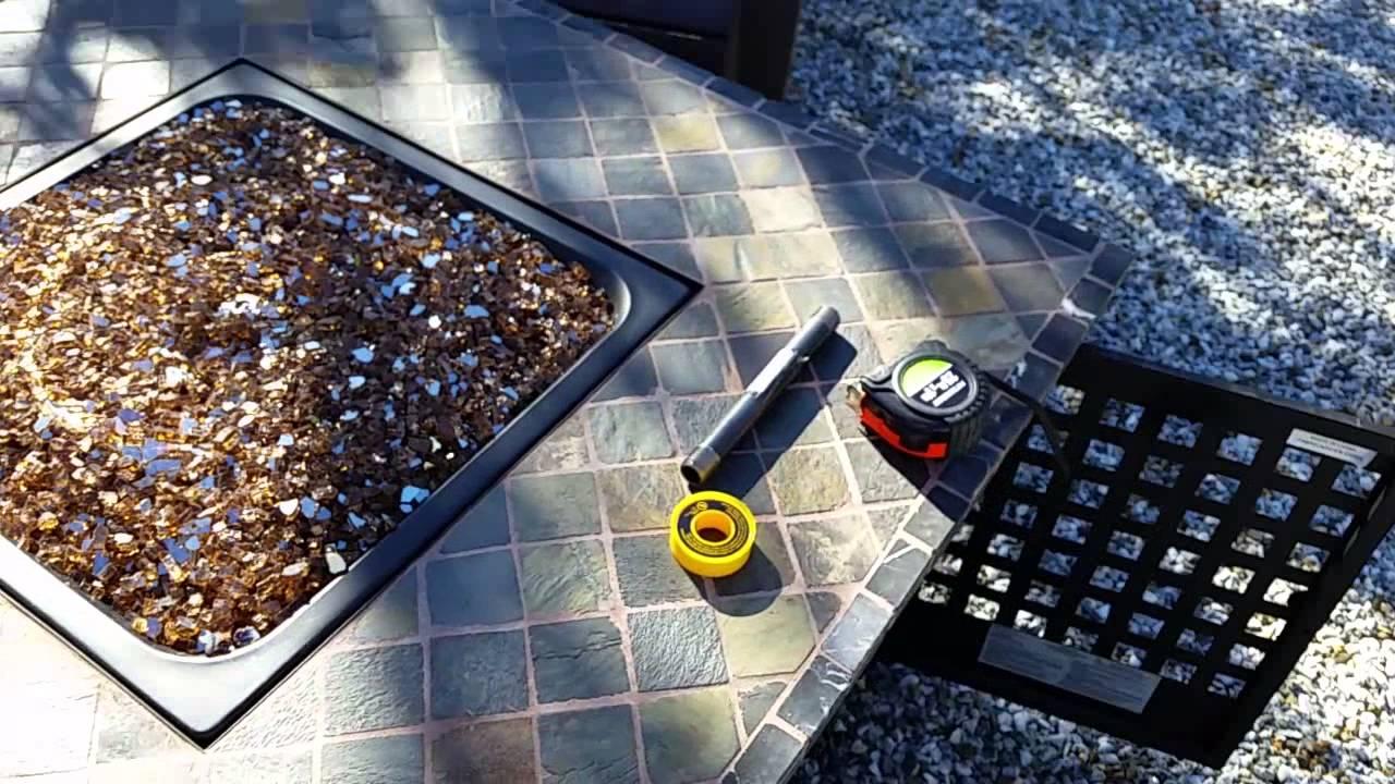 Blue Rhino GAD860SP LP Fire Pit Table Fire Glass Conversion