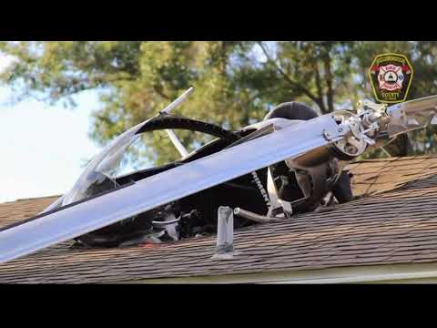 Helicopter crashes into Odessa home, pilot now in stable condition
