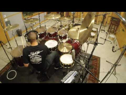 Queen of Hearts drum session with Simon Phillips producing