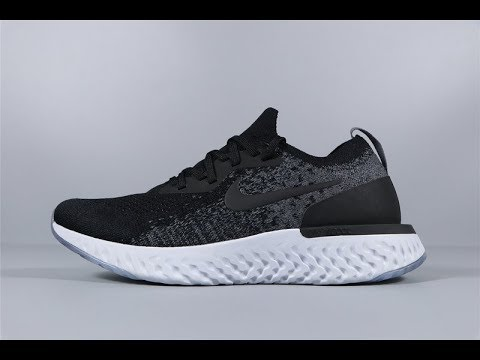 Nike Running Epic React Flyknit Trainers In Black AQ0067-001 FROM Robert