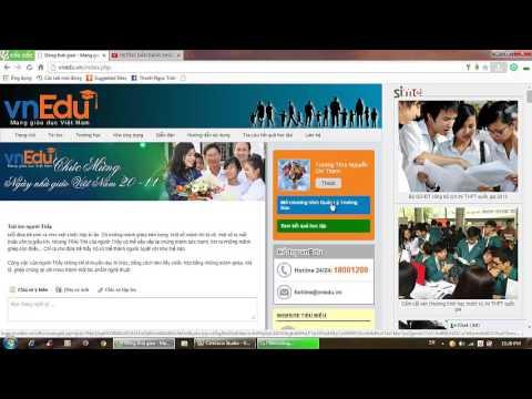 Hướng dẫn sử dụng phần mềm Vnedu