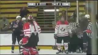 НХЛ онлайн - США - Канада, дерутся девчонки!