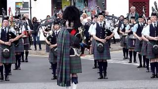 Pipe Band Isle Of Skye Inner Hebrides Scotland