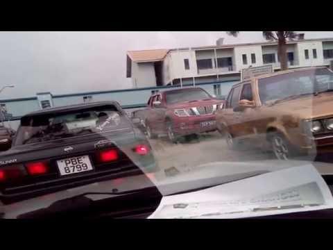 Traffic in San Fernando General Hospital car park, 16th Sept 2015 (part 2)