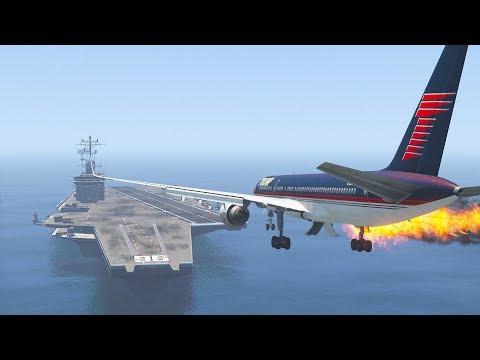 trump's-757-emergency-landing-on-aircraft-carrier- -gta-5