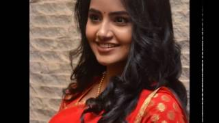 Anupama parameswaran actress Hot in Red saree