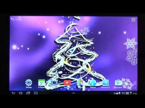 3D Christmas Tree Live Wallpaper For Android Phones And Tablets