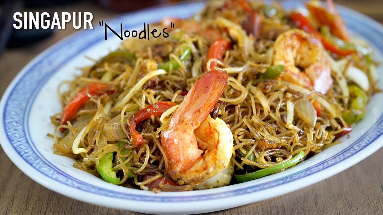 receta wok de vegetales y fideos de arroz