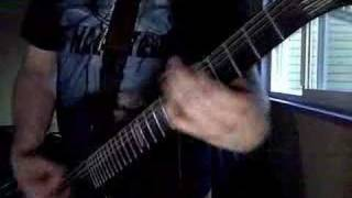 "Some fool trying to play ""Shadows and Dust"" by Arch Enemy"