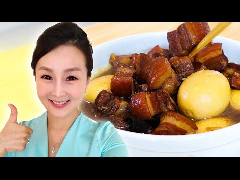 Braised Pork Belly In Soy Sauce, CiCi Li - Asian Home Cooking Recipes