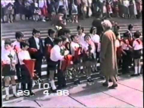 Прием чеховцев в пионеры. Ереван 1986