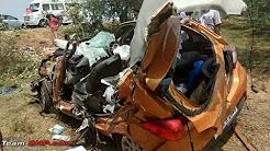 Tata Tiago Accident Crash With Truck