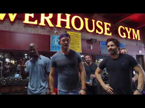 #TransformersTuesday: Josh Duhamel & Santiago Cabrera workout with the Navy SEALs