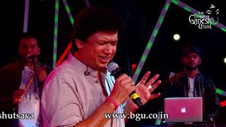 "Vijay Prakash  singing ""Om Shivoham"" at 56th Bengaluru Ganesh Utsava, 2018"