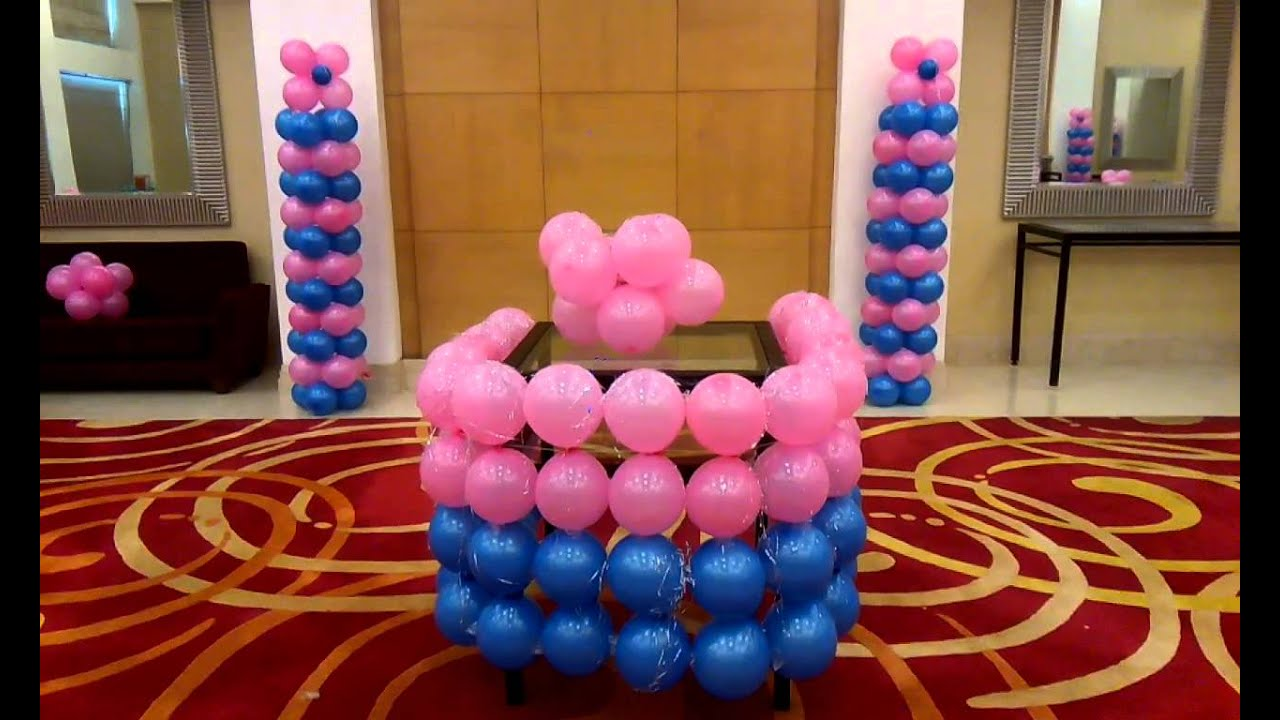 Birthday Party Planners in Gurgaon Blue n Pink Decor 09891478183