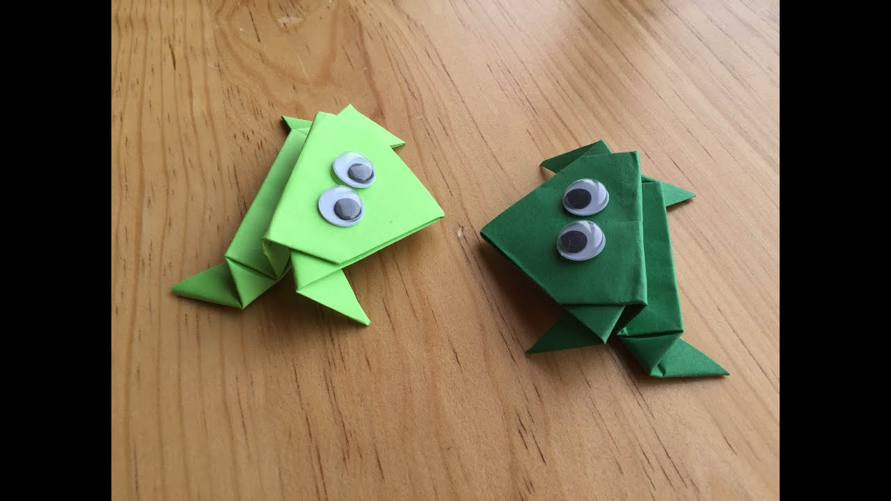 origami frogs youtube