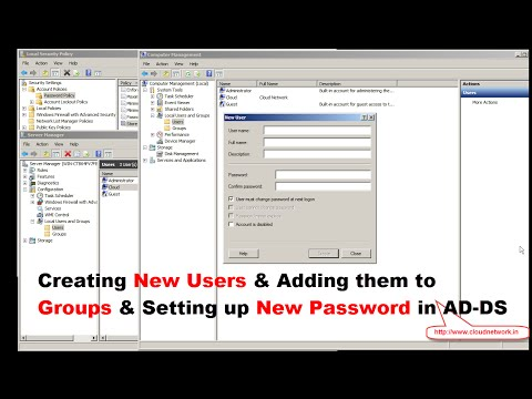 Create A New & Group Local User Account & Password In Windows Server 2008 R2
