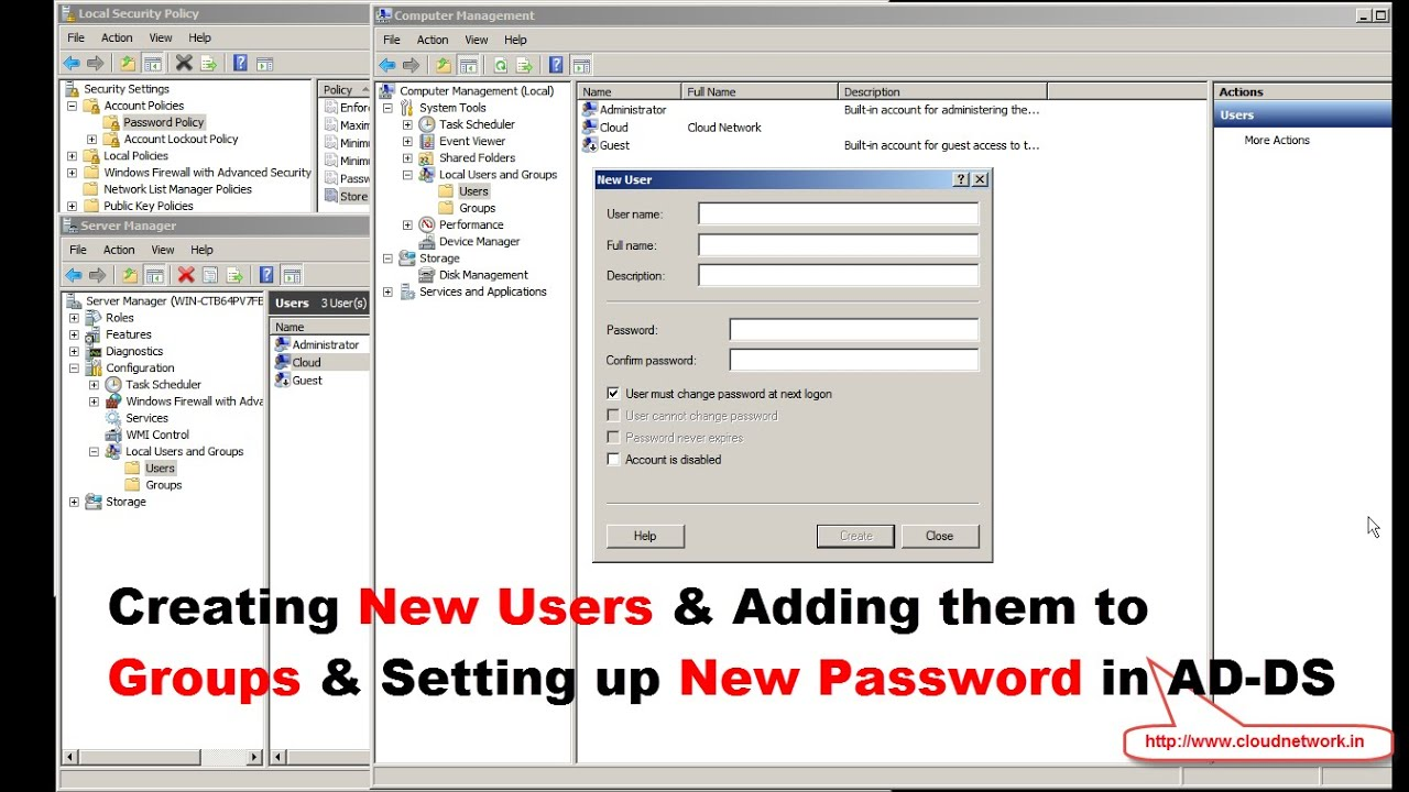 windows server 2008 r2 how to add domain user