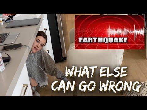 EARTHQUAKE CAUGHT on CAMERA | *Pure Panic mode*