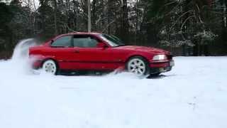 Bmw e36 1.6 snow drift