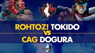 ROHTOZ! Tokido (Akuma) VS CAG Dogura (M.Bison) - Canada Cup 2019 Winner's Quarters - CPT 2019