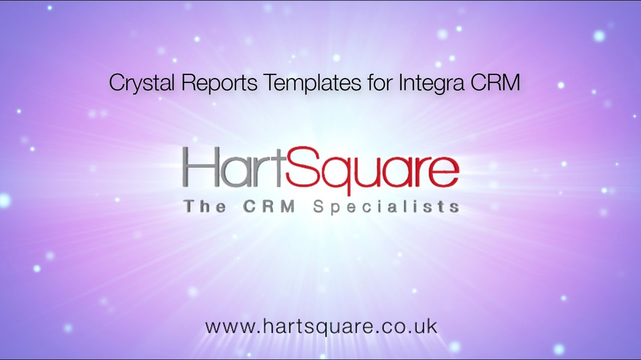 crystal reports templates for integra crm youtube