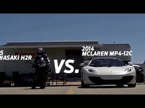 FASTEST Kawasaki Ninja H2r vs Bugatti Veyron Drag Race Lamborghini Aventador vs F16 Fighting Falcon