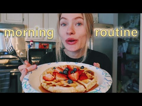 weekend morning routine   college student