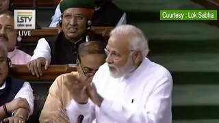 PM Modi's slams Sonia Gandhi over her statement on No Confidence Motion.