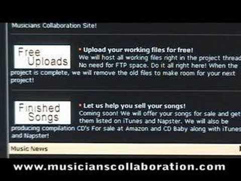 Musicians Collaboration.com Promo