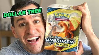 *BUYING ENTIRE BOX OF DOLLAR TREE POKEMON CARDS! Opening UNBROKEN BONDS Booster Packs!