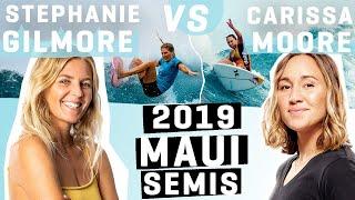 Stephanie Gilmore battles Carissa Moore at the 2019 lululemon Maui Pro FULL HEAT REPLAY
