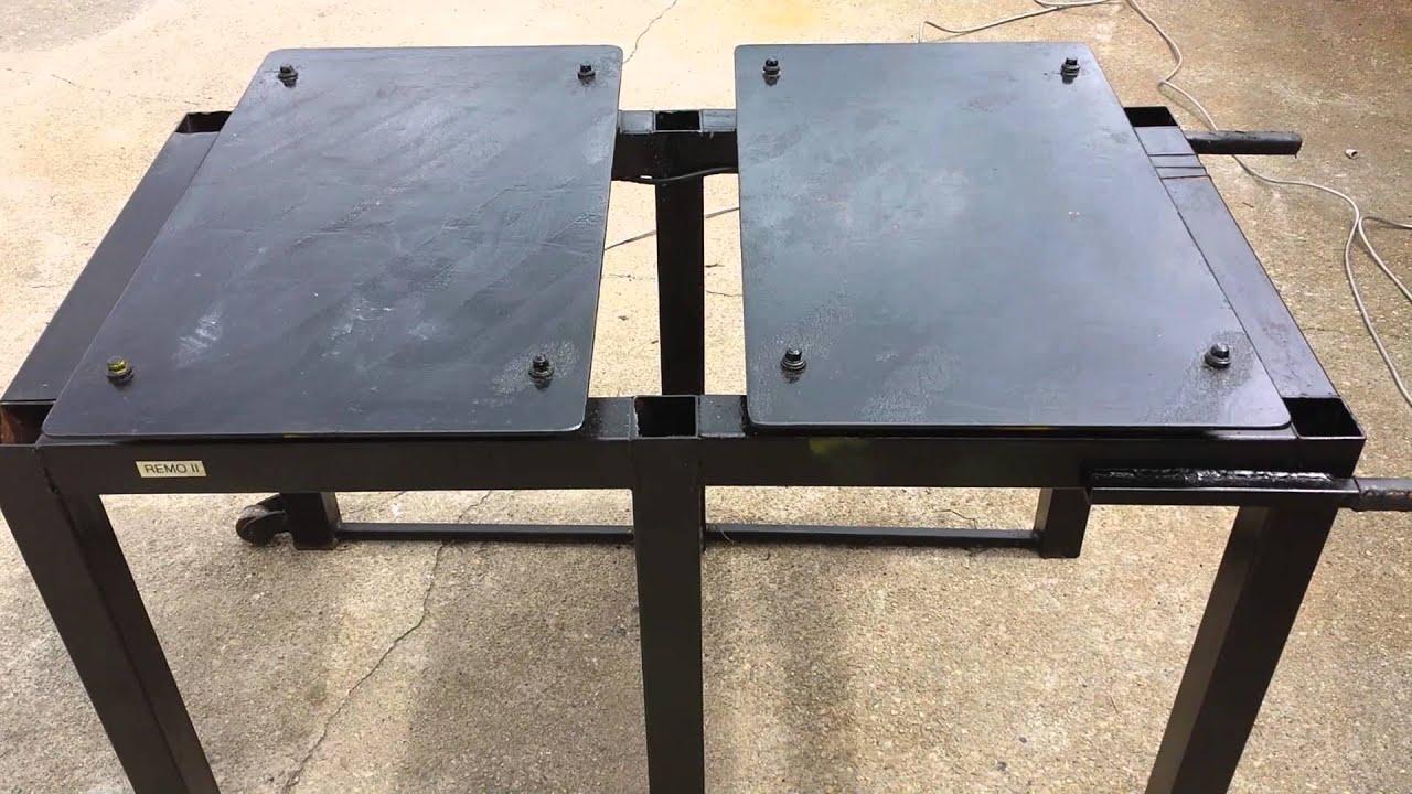 Wspólne Stół wibracyjny do produkcji form betonowych - YouTube CK-28