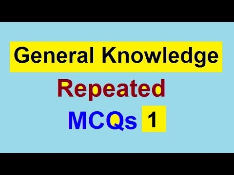 General Knowledge | PPSC FPSC NAB AD NTS CSS PMS