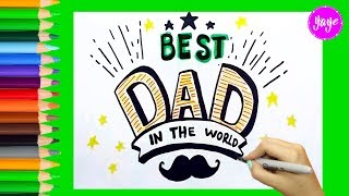 How to draw beautiful card for Father