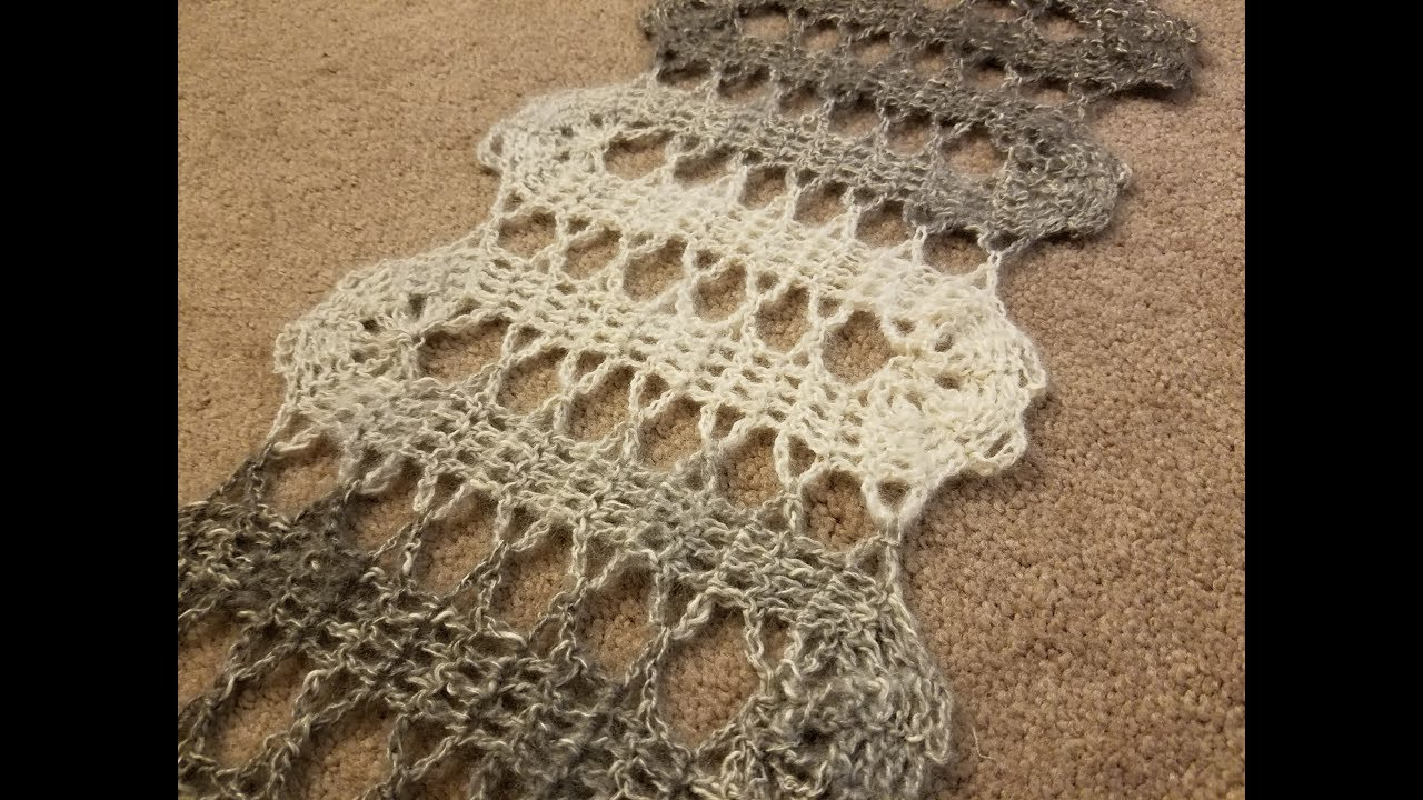 The Bruges Lace Scarf Crochet Tutorial Youtube