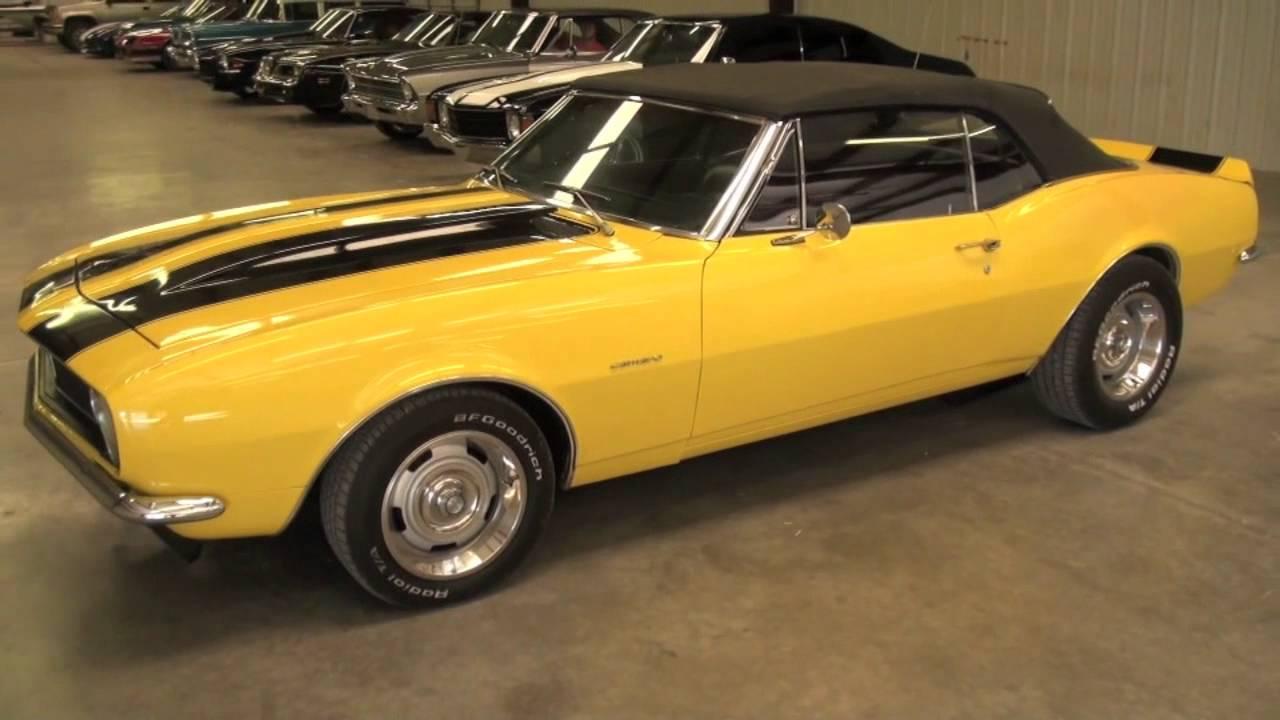1967 Camaro convertible yellow - YouTube