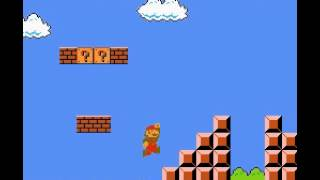 Super Mario Bros - SMB How to jump over the flagpole in world 1-1 - User video