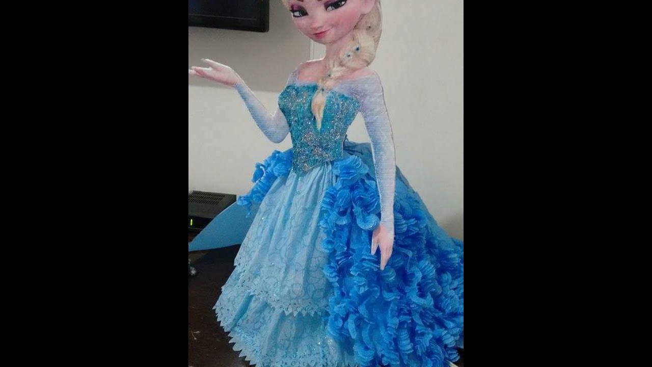 Diy Luminária Part 4 Vestido Da Elsa