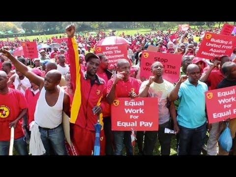 S.A. Platinum Miner's Struggle Challenges ANC Leadership